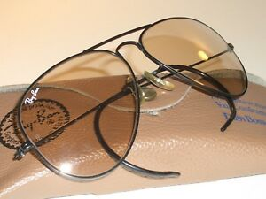 2d8829d133 58MM VINTAGE B L RAY BAN PHOTOCHROMIC CHANGEABLES WRAPAROUNDS ...