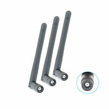 3x 2dBi 2.4GHz 5GHz Dual Band WiFi RP-SMA Antennas for ASUS Amped TP-Link Archer
