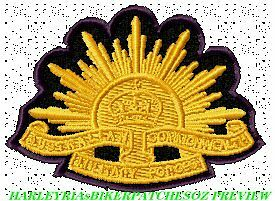 AUSTRALIAN ANZAC WW1 & WW2 RISING SUN - EMBROIDERED BIKER PATCH