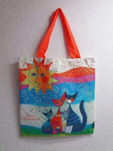 Art Shopping Bag Rosina Wachmeister Katzen Momenti di felicita stabile Tasche