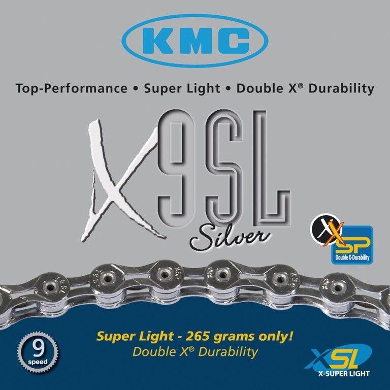 KMC x9sl 9 volte CATENA  116 anelli