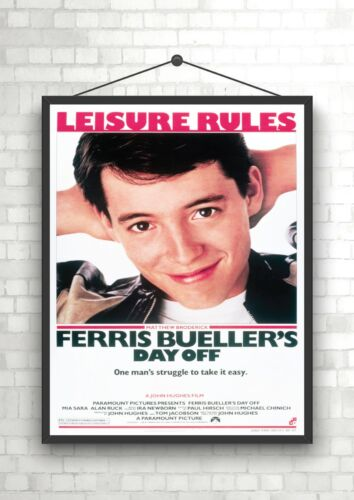 Ferris Bueller/'s Day Off Vintage Classic Large Movie Poster Print A0 A1 A2 A3 A4