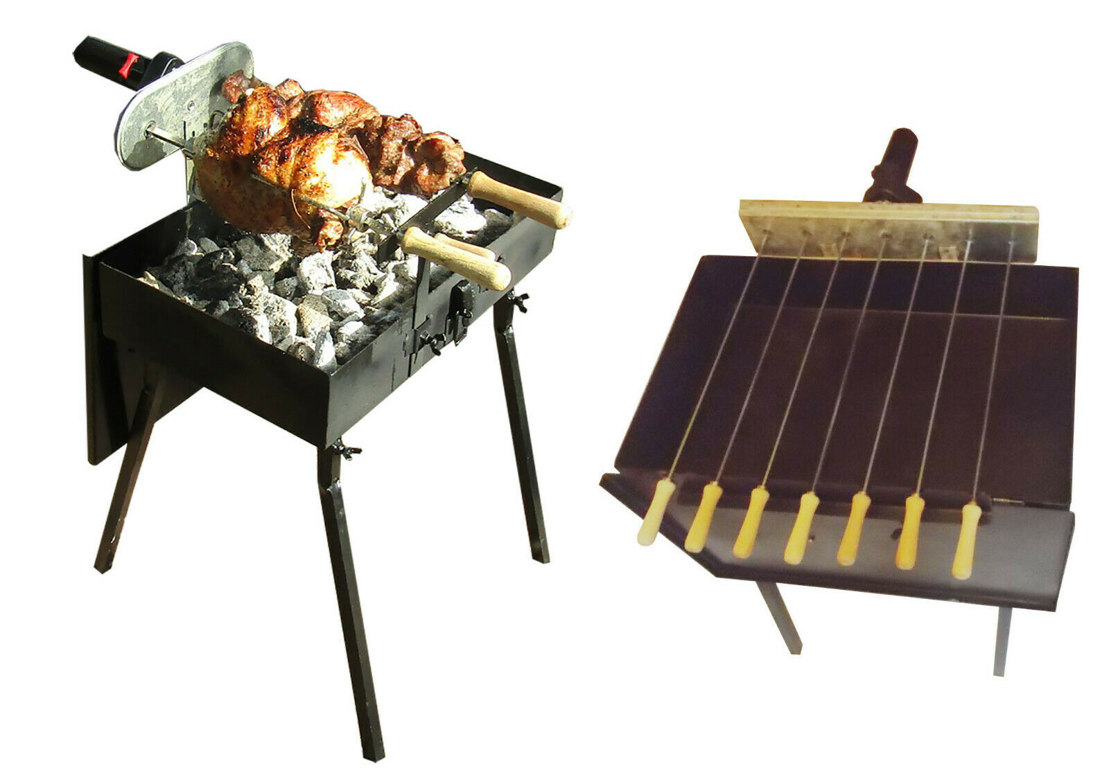 Portable Cyprus Grill, Foukou,  with one 6RPM 120V. and one Battery Motor  take up to 70% off