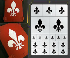 FLEUR DE LIS VINYL SELF ADHESIVE AIRBRUSH STENCIL FOR WARGAMING FALLOUT HOBBIES