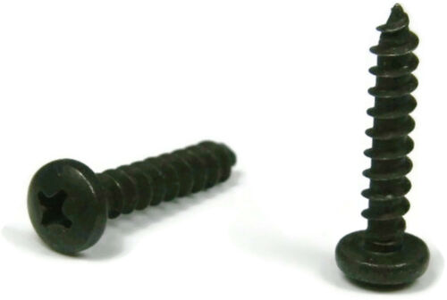 Black Oxide Stainless Phillips Pan Head Sheet Metal Screw  10 x 3//4 Qty 100
