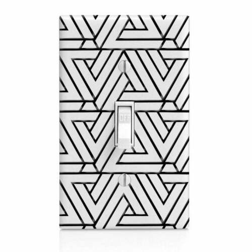 Knob Bathroom Decor, Bedroom Nightlight Black Penrose  Light Switch Cover