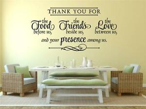 Thank-You-For-Food-Friends-Love-Vinyl-Wall-Decal-Words-Art-Sticker-Decor