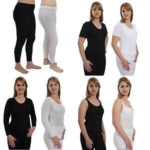 Ladies White Warm Thermal Short Sleeved T-shirt Vest Sizes L XL