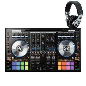 reloop mixon 4 w free headphones serato dj djay pro 4 channel dj controller 4043034160414 ebay. Black Bedroom Furniture Sets. Home Design Ideas