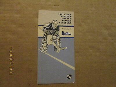 Honey Western Hockey League Vintage Circa 1981-1982 League Pamphlet Schedule Ideal Gift For All Occasions Sports Mem, Cards & Fan Shop Hockey-other