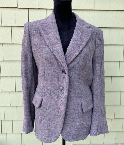 Ann Demeulemeester Women's Blazer, Plaid, Size 38
