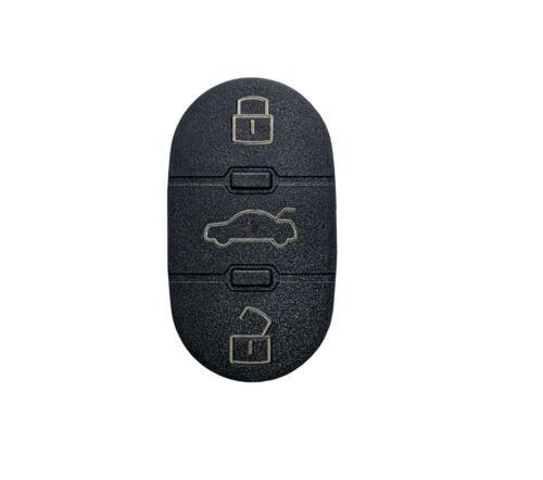 AMAKEY Tastenabdeckung Tastenfeld für AUDI A2 A3 A4 A6 TT Autoschlüssel 3 Tasten