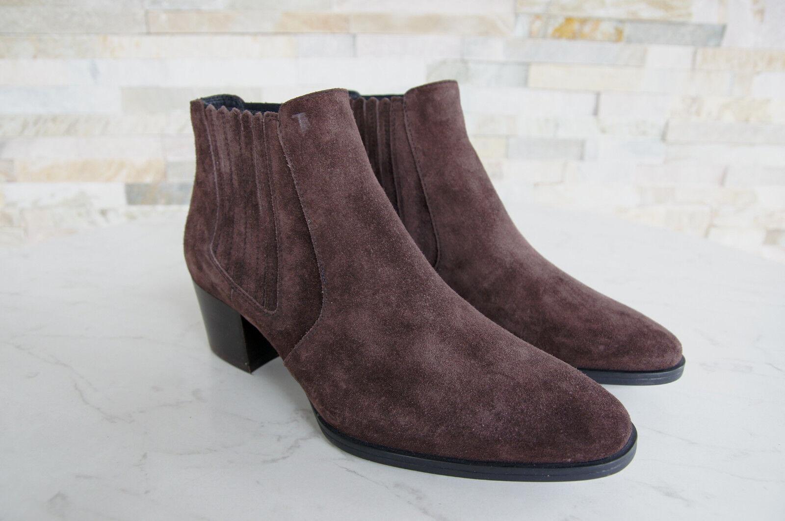 Tods Tod´s Stiefeletten Stiefeletten Stiefeletten 36,5 Ankle Stiefelies Stiefel Schuhe braun neu ehem  8edd4c