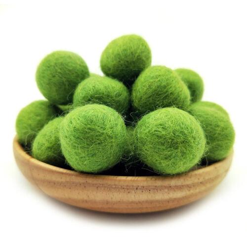 10Pcs 2cm Pom Poms Wool Felt Balls Round Hand Beads Nursery Christmas Crafts