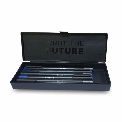 Pentonic Black Writing Pencil Box With 5 Black And 5 Blue Ball Pen Set