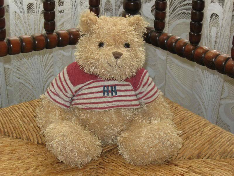 Happy Horse Holland Sitting Terry Cloth Teddy Bear rosso Striped HH Sweater 2003
