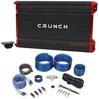 crunch pz5000 1 5000 watt max mono car amplifier amp wire kit crunch pzx1500 1 1500 watt mono class a b car audio amplifier amp