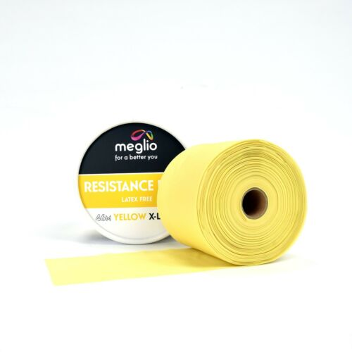 Meglio Latex Free Resistance Bands Rolls 46 /& 23 Metre