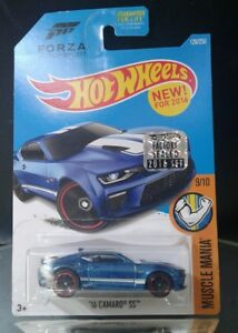HOT-WHEELS-2016-MUSCLE-MANIA-039-16-CAMARO-SS-FORZA-MOTORSPORT-BLUE-FACTORY-SEALED