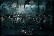 ASSASSIN'S CREED SYNDICATE ~ CROWD ~ 24x36 HORIZONTAL VIDEO GAME POSTER ~ NEW!