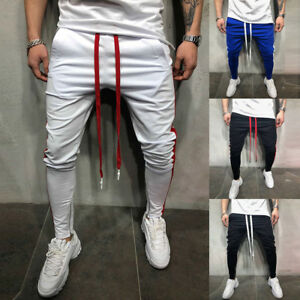 Gym Men Slim Fit Trouser Tracksuit Bottoms Skinny Joggers Sweat Track Pants