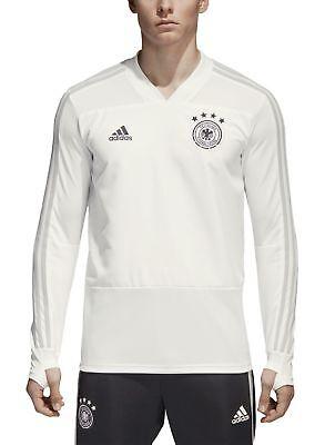 Adidas Performance Herren Fussball Sweatshirt Dfb Training Top Weiß Entlastung Von Hitze Und Sonnenstich
