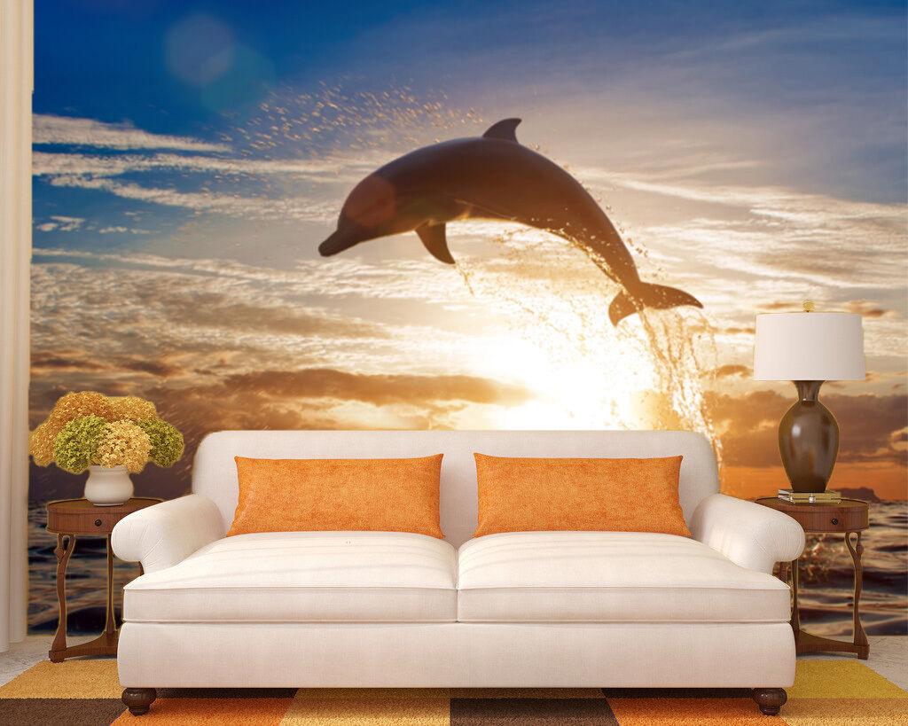 3D Sunset jump  1 WallPaper Murals Wall Print Decal Wall Deco AJ WALLPAPER