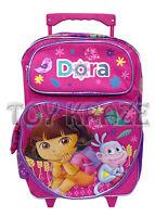 Dora The Explorer Rolling Backpack Pink Heart Wheat Boots Roller Bag 16