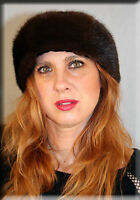 Mahogany Mink Fur Headband Furs One Size Fits All