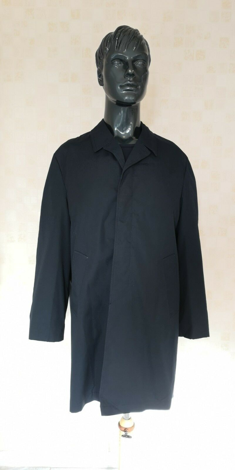 BNWT  Herren Vintage Brigwater Rainwear Coat Mac Navy Blau Größe 44