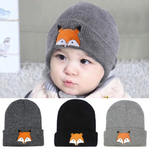 f86b96bb79a Baby Kids Cute Hat Children Cap Warm Winter Hats Knitted Wool ...