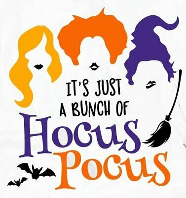 Disney Hocus Pocus  vinyl iron on transfer choice of 1