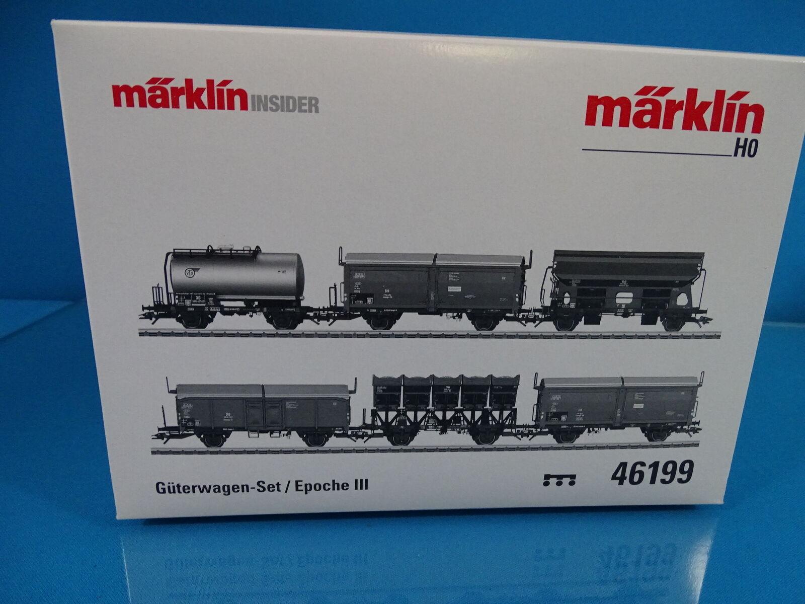 Marklin 46199 DB Car Set  Freight Car set DB Epoche III