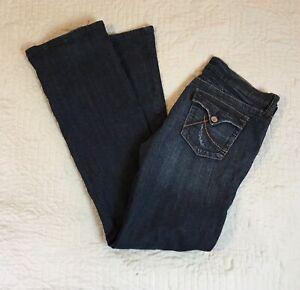 Kaba Blue Jeans Women Size-5-7-11 Waist Stretch  Flap Pockets