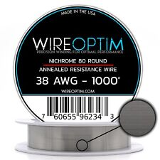 38 Gauge Awg Nichrome 80 Wire 1000 Length N80 Wire 38g Ga 010 Mm 1000 Ft