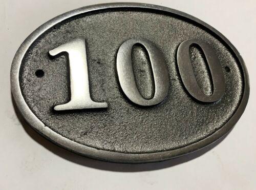 Fonte d/'aluminium ovale Maison Porte Numéro SIGNE adresse en métal solide