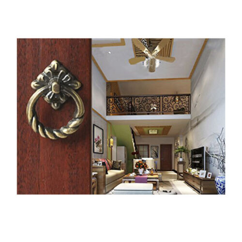 6pcs Vintage Kitchen Cabinet Cupboard Dresser Door Drawer Ring Pull Handles Knob