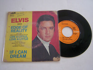 SP-2-TITRES-VINYLE-45-T-ELVIS-PRESLEY-EDGE-OF-REALITY-G-VG-RCA-49-574