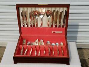 1847 Roger Bros LEILANI America's Finest Silverplate Flatware (45) pc Set in box