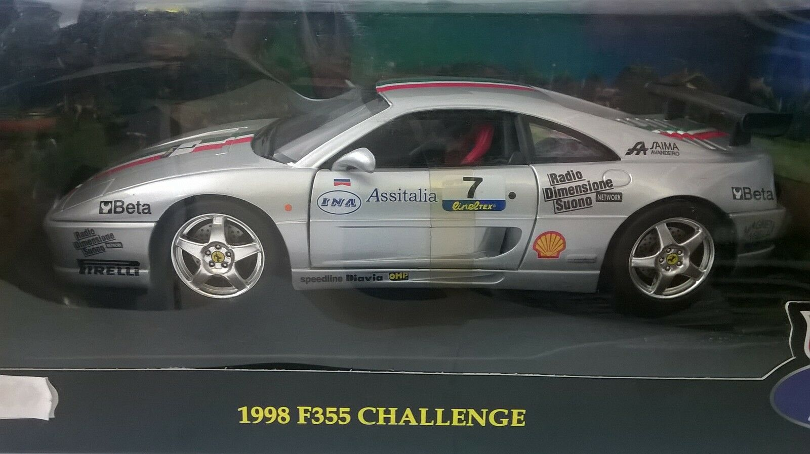 HOT WHEELS 1 1 1 18 FOUNDATION AUTO DIE CAST FERRARI F355 1998 CHALLENGE   ART 23909 b5d5b6