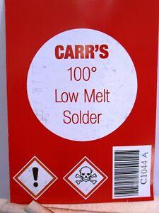 Carr's C1044A Value Low Melt 75gm 100 Deg. Solder for Whitemetal to Brass Kits 1