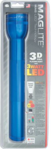 "AIRCRAFT Grade Aluminium Bo MAG-LITE 3D CELL DEL Lampe de poche bleu 12 1//4/"" OVERALL"