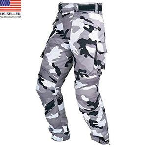 Men-039-s-Textile-Camo-Trouser-Motorcycle-Armour-Biker-Motorbike-Waterproof-Pants
