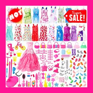 ... color al azar Juego de ropa y accesorios para muñecas Barbie de 191 piezas