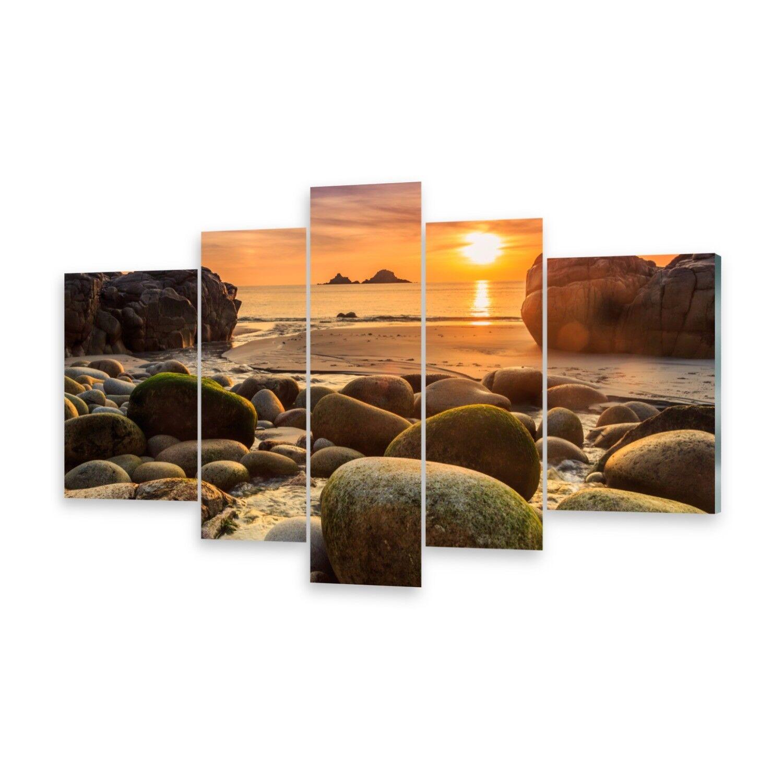 Mehrteilige Bilder Glasbilder Wandbild Cornwall England