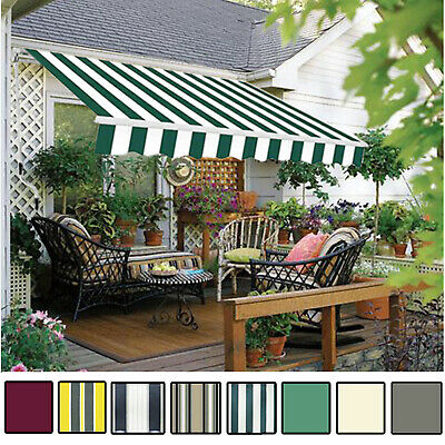 Manual Awning Canopy Garden Patio Shade, Portable Awning For Patio