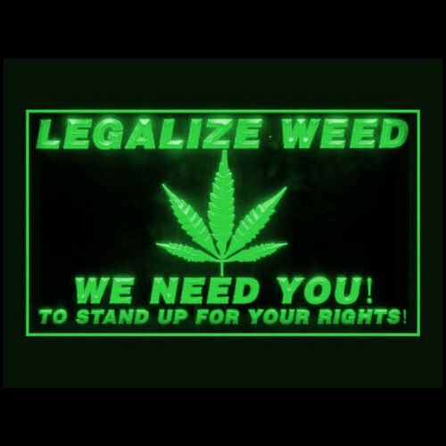 220099 Legalize Weed Human Right Stop the War On Drugs Freedom LED Light Sign