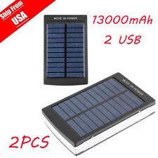 2pcs 50000mAh Portable Super Solar Charger Dual USB External Battery Power Bank