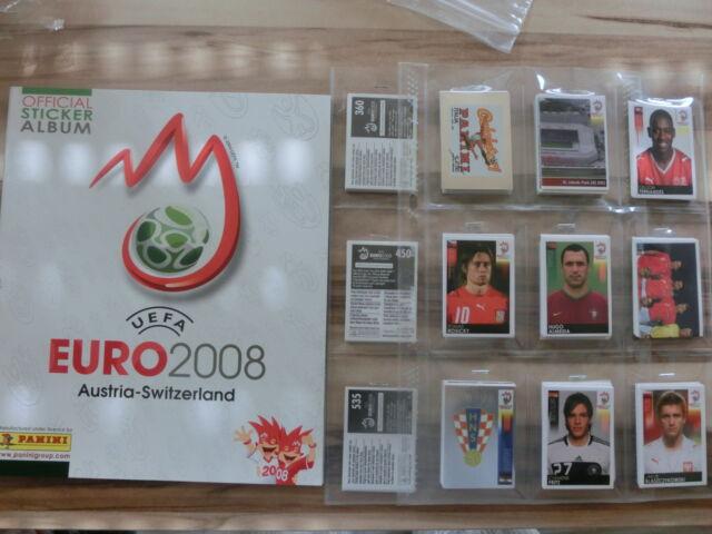 PANINI EURO  CUP 2008 EM 08 * KOMPLETTSET COMPLETE SET*EMPTY ALBUM
