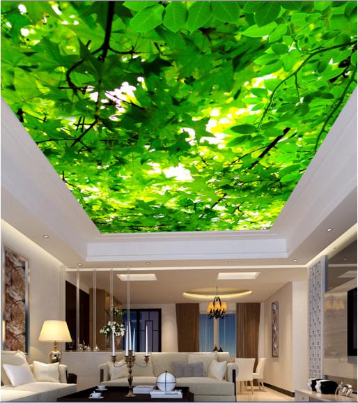 3D Grüne Blätter 833 Fototapeten Wandbild Fototapete BildTapete Familie DE Kyra